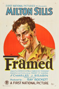 """Movie Posters:Drama, Framed (First National, 1927). One Sheet (27"""" X 41"""") Style B.. ..."""