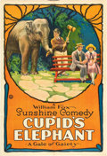 "Movie Posters:Comedy, Cupid's Elephant (Fox, 1922). One Sheet (27"" X 41"").. ..."