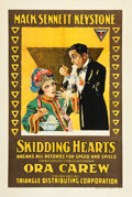 "Movie Posters:Comedy, Skidding Hearts (Triangle, 1917). One Sheet (27"" X 41"").. ..."