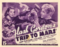 "Movie Posters:Serial, Flash Gordon's Trip to Mars (Universal, 1938). Title Lobby Card(11"" X 14"").. ..."