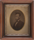 Political:3D & Other Display (pre-1896), Abraham Lincoln: Full Plate Tintype. ...