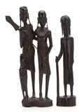 African, THE COLLECTION OF PAUL GREGORY AND JANET GAYNOR. A GROUP OFTWO (2) WATUSI FIGURAL WOOD CARVINGS FROM THE EASTERN AFRICA...(Total: 2 Items)