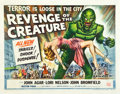 "Movie Posters:Horror, Revenge of the Creature (Universal International, 1955). Half Sheet(22"" X 28""). Style A.. ..."