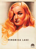 "Movie Posters:Film Noir, Veronica Lake Personality Poster (Paramount, 1944). French Affiche(23"" X 31"").. ..."