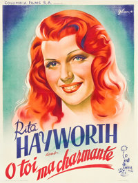 """Rita Hayworth in """"You Were Never Lovelier"""" (Columbia, 1942). French Affiche (23.5"""" X 31.5"""")"""