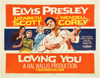 """Loving You (Paramount, 1957). Half Sheet (22"""" X 28""""). Style A"""