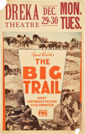 "Movie Posters:Western, The Big Trail (Fox, 1930). Window Card (14"" X 22"").. ..."