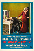 "Movie Posters:Serial, The Crimson Stain Mystery (Consolidated, 1916). One Sheet (27"" X41""). Episode 3 -- The Broken Spell."". ..."