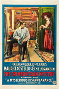 """Movie Posters:Serial, The Crimson Stain Mystery (Consolidated, 1916). One Sheet (27"""" X 41""""). Episode 4 -- """"A Mysterious Disappearance."""". ..."""