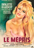 "Movie Posters:Drama, Le Mepris (Cocinor, 1963). French Affiche (23.5"" X 31.5"").. ..."