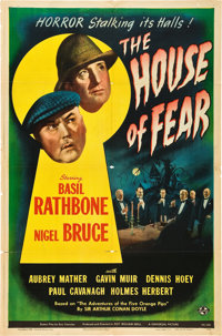 """The House of Fear (Universal, 1945). One Sheet (27"""" X 41"""")"""