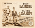 "Movie Posters:Comedy, Should Married Men Go Home? (MGM, 1928). Title Lobby Card (11"" X14"").. ..."