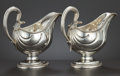 Silver Holloware, American:Sauce Boats, A PAIR OF GEORGE III SILVER SAUCEBOATS . Williams Holmes, London,England, circa 1775-1776. Marks: (lion passant), (leopard'...(Total: 2 Items Items)