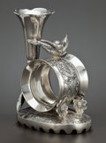 Silver Holloware, American:Napkin Rings, A CANADIAN SILVER PLATED FIGURAL NAPKIN RING WITH BUD VASE . AcmeSilver Company, Toronto, Ontario, Canada, circa 1875. Mark...
