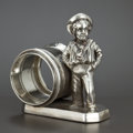 Silver Holloware, American:Napkin Rings, AN AMERICAN SILVER PLATED FIGURAL NAPKIN RING . Simpson, Hall,Miller & Co., Wallingford, Connecticut, circa 1880. Marks:...