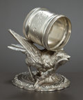 Silver Holloware, American:Napkin Rings, AN AMERICAN SILVER PLATED FIGURAL NAPKIN RING . Meriden SilverPlate Co., Meriden, Connecticut, 1875. Marks: MERIDENSILVE...