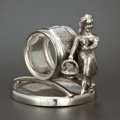 Silver Holloware, American:Napkin Rings, A CANADIAN SILVER PLATED FIGURAL NAPKIN RING . Acme Silver Company,Toronto, Ontario, Canada, circa 1875. Marks: THE ACME ...