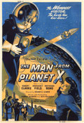 """Movie Posters:Science Fiction, The Man from Planet X (United Artists, 1951). Silk Screen Poster (40"""" X 60"""").. ..."""