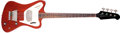Musical Instruments:Bass Guitars, 1965 Gibson Thunderbird Cherry Red Electric Bass Guitar, #553078. ...