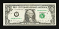 Error Notes:Ink Smears, Fr. 1915-B $1 1988A Federal Reserve Note. Fine.. ...