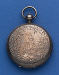 Timepieces:Pocket (pre 1900) , T. F. Cooper 55 mm Silver Key Wind Hunter's Case Pocket Watch. ...