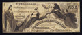 Obsoletes By State:Tennessee, Knoxville, TN- Bank of East Tennessee at Chattanooga Branch $5 Jan. 1, 1856. ...