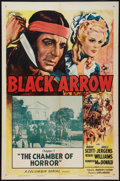 """Movie Posters:Serial, Black Arrow (Columbia, R-1955). One Sheet (27"""" X 41""""). Chapter 7 --""""The Chamber of Horror."""" Serial.. ..."""
