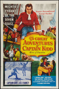 "The Great Adventures of Captain Kidd (Columbia, 1953). One Sheet (27"" X 41""). Chapter 15 -- ""Captain Kidd..."