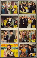 """Movie Posters:Crime, Girl in 313 (20th Century Fox, 1940). Lobby Card Set of 8 (11"""" X14""""). Crime.. ... (Total: 8 Items)"""