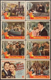 "The Man from Frisco (Republic, 1944). Lobby Card Set of 8 (11"" X 14""). Drama. ... (Total: 8 Items)"