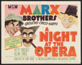 "Movie Posters:Comedy, A Night at the Opera (MGM, R-1948). Title Lobby Card (11"" X 14"").Comedy.. ..."