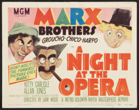 "A Night at the Opera (MGM, R-1948). Title Lobby Card (11"" X 14""). Comedy"
