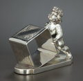 Silver Holloware, American:Napkin Rings, AN AMERICAN SILVER PLATED FIGURAL NAPKIN RING . James W. Tufts,Boston, Massachusetts, circa 1875. Marks: JAMES W. TUFTS,...