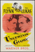 "Movie Posters:Drama, Uncertain Glory (Warner Brothers, 1944). One Sheet (27"" X 41""). Drama.. ..."