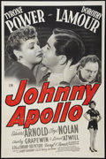"Movie Posters:Crime, Johnny Apollo (20th Century Fox, 1940). One Sheet (27"" X 41"").Crime.. ..."