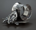 Silver Holloware, American:Napkin Rings, AN AMERICAN SLIVER PLATED FIGURAL NAPKIN RING . Wilcox Silver PlateCo., Meriden, Connecticut, circa 1870. Marks: WILCOX S...