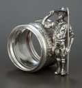 Silver Holloware, American:Napkin Rings, AN AMERICAN SILVER PLATED FIGURAL NAPKIN RING . Maker unknown,American, circa 1875. Unmarked. 2-5/8 inches high (6.7 cm). 3...