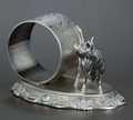 Silver Holloware, American:Napkin Rings, AN AMERICAN SILVER PLATED FIGURAL NAPKIN RING . KnickerbockerSilver Co., Port Jervis, New York, circa 1870. Marks:MANUFA...