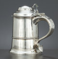 Silver Holloware, British:Holloware, A GEORGE II SILVER DOME TOPPED TANKARD . Fuller White, London,England, circa 1758-1759. Marks: (lion passant), (leopard's h...