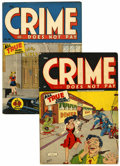 Golden Age (1938-1955):Crime, Crime Does Not Pay #36 and 46 Group (Lev Gleason, 1944-46).... (Total: 2 Comic Books)