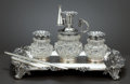 Silver Holloware, British:Holloware, A WILLIAM IV SILVER AND CUT GLASS INK STAND . Charles Reily &George Storer, London, England, circa 1834-1835. Marks to each...(Total: 9 Items Items)