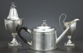 Silver Holloware, British:Holloware, A FEDERAL AMERICAN SILVER TEA SET . D. VanVoorhis and G. Schanck,New York, New York, circa 1791. Marks: V.V. & S.(eagl... (Total: 4 Items Items)