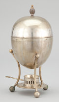 Silver Holloware, British:Holloware, A BRITISH SILVER PLATED EGG BOILER/STEAMER . Maker unidentified,London, England, circa 1930 . Marks: S.B & Co,LONDON,... (Total: 4 Items)