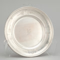 Silver Holloware, American:Plates, A SET OF SIX AMERICAN SILVER DESSERT PLATES . Gorham ManufacturingCo., Providence, Rhode Island, circa 1900 . Marks: GORH...(Total: 6 Items)