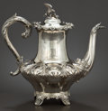 Silver Holloware, British:Holloware, A WILLIAM IV SILVER TEAPOT . Charles Reily and George Storer,London, England, circa 1835-1836. Marks: (lion passant), (leop...