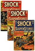 Golden Age (1938-1955):Horror, Shock SuspenStories #9, 10, and 14 Group (EC, 1953-54) Condition:Average VG-.... (Total: 3 Comic Books)