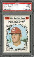 Baseball Cards:Singles (1970-Now), 1970 O-Pee-Chee Pete Rose #458 PSA Mint 9 - Pop 1-Highest Known Example! ...