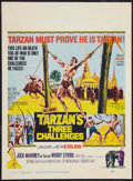 "Movie Posters:Adventure, Tarzan's Three Challenges Lot (MGM, 1963). Window Cards (2) (14"" X19"" and 14"" X 22""). Adventure.. ... (Total: 2 Items)"