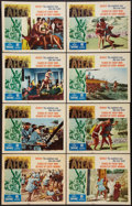 "Movie Posters:Action, Atlas Lot (Film Group, 1961). Lobby Card Sets of 8 (2) (11"" X 14"").Action.. ... (Total: 16 Items)"