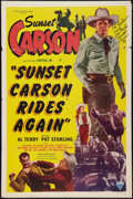 """Movie Posters:Western, Sunset Carson Rides Again (Astor, 1948). Autographed One Sheet (27"""" X 41""""). Western.. ..."""